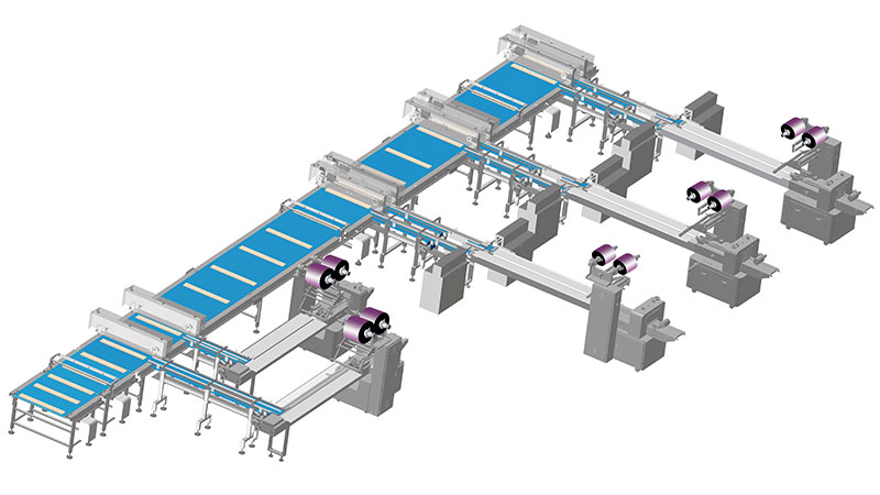 Wafer Automatic Process and Packaging System, Which Package Single Pack and Multi-pack