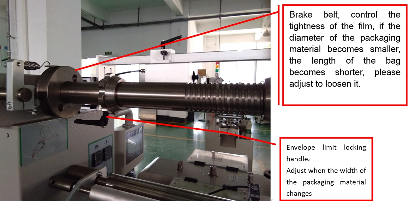 Film Support for Packaging Machine