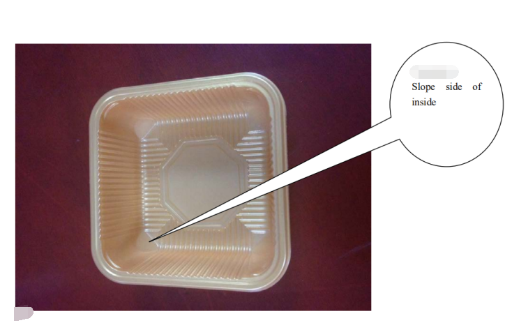 plastic  box or tray for flow pack machine