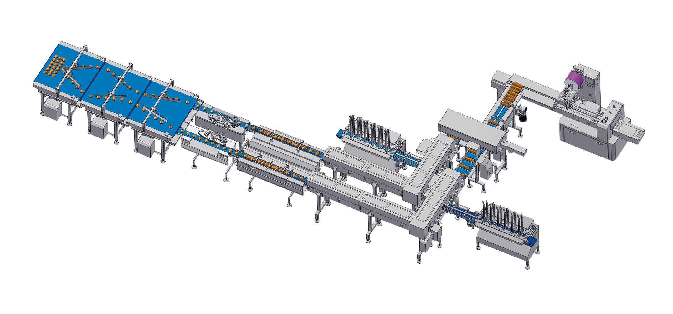 Group packaging solution with auto tray loading unit