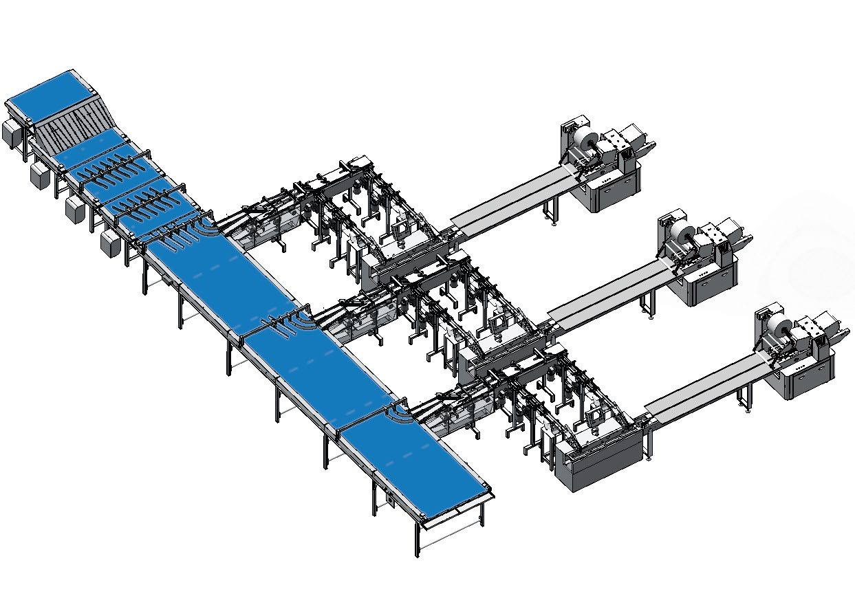 Sandwiich biscuit packaging system