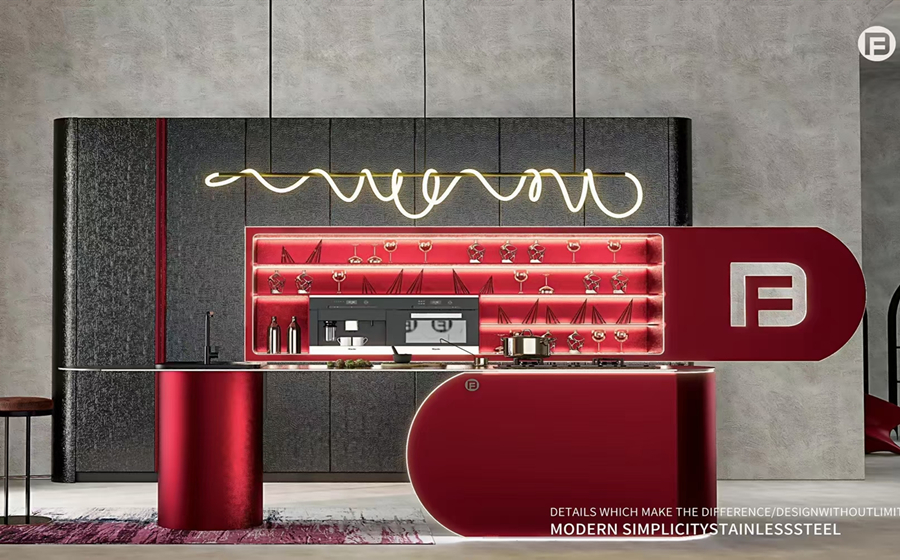Fadior Stainless Steel Kitchen - Initial Heart