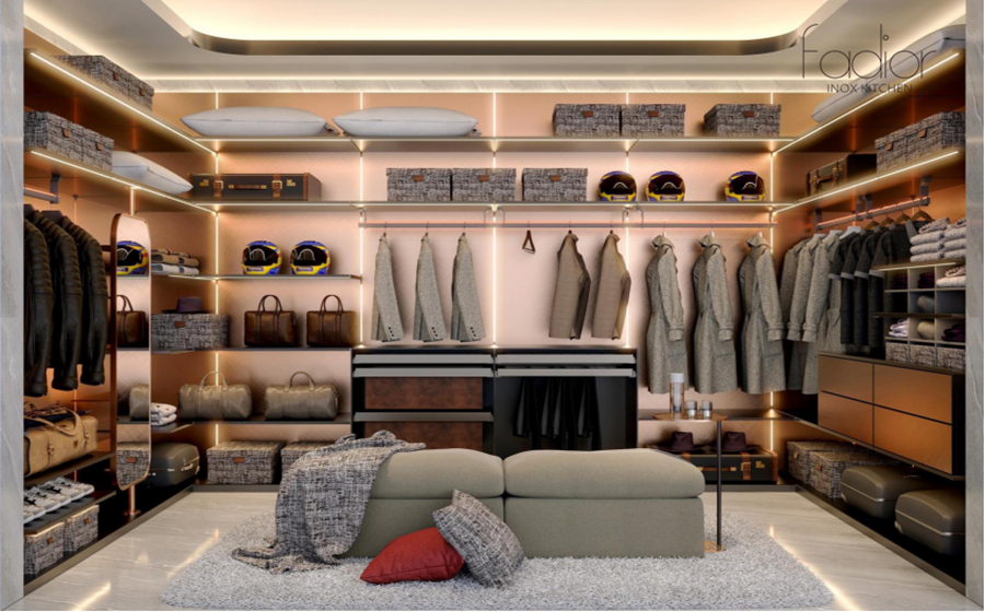 Fadior Stainless Steel Wardrobe - Champs Elysees