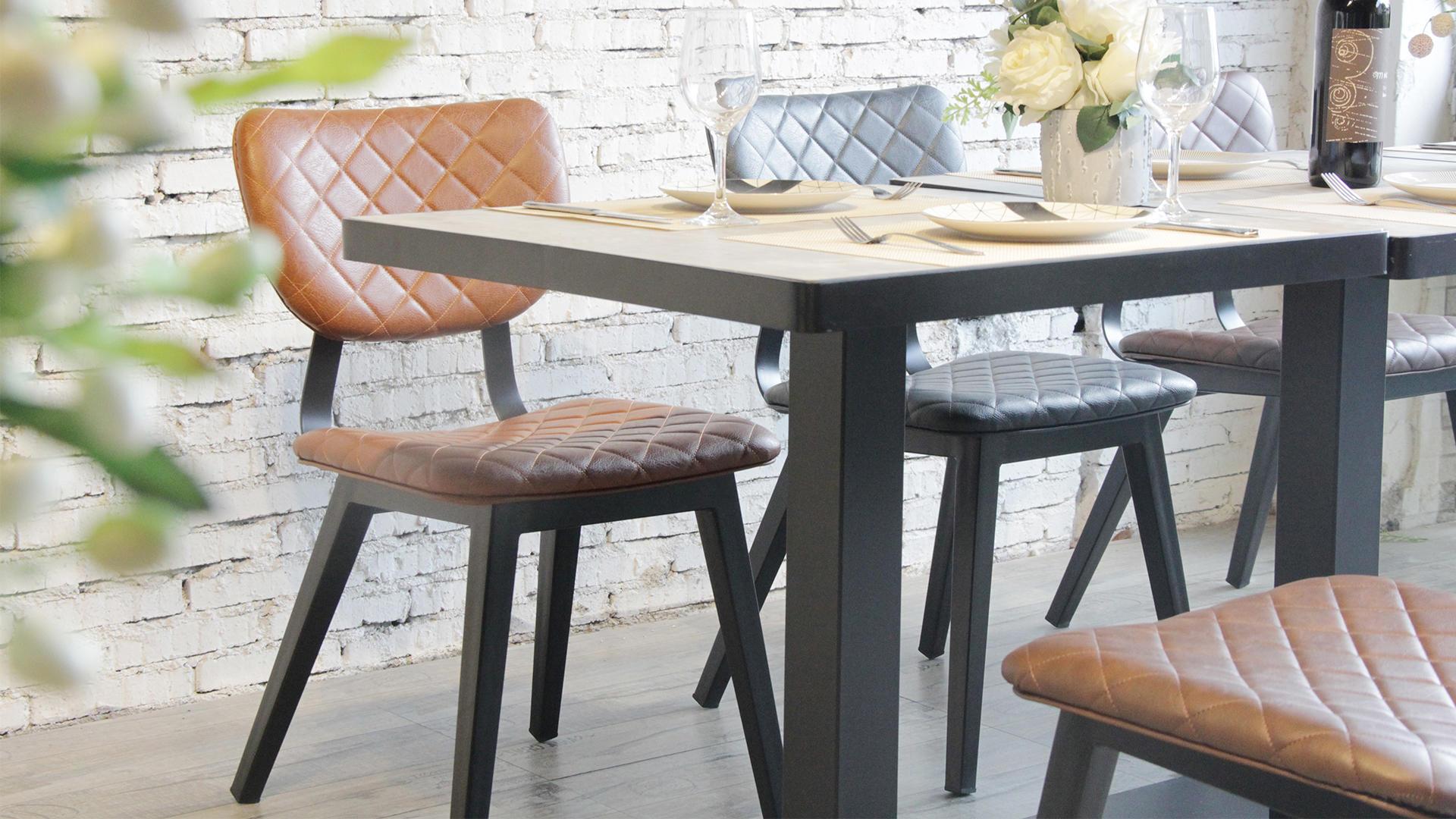 Vintage Industrial Coffee Shop Restaurant Modern Luxury Pu Leather Chair 724-H45-STPU