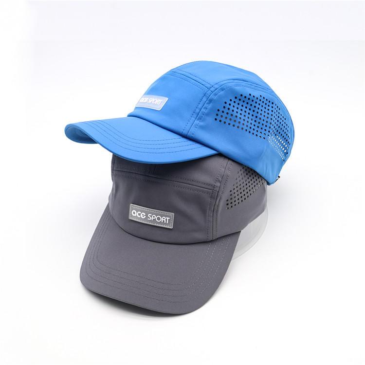 5 Panel Camper Hat Jockey Flat Bill Cap Meshed Camper Cap