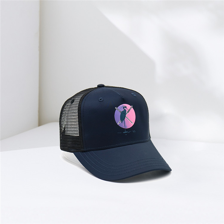 sublimation patch custom mesh trucker cap mesh hat
