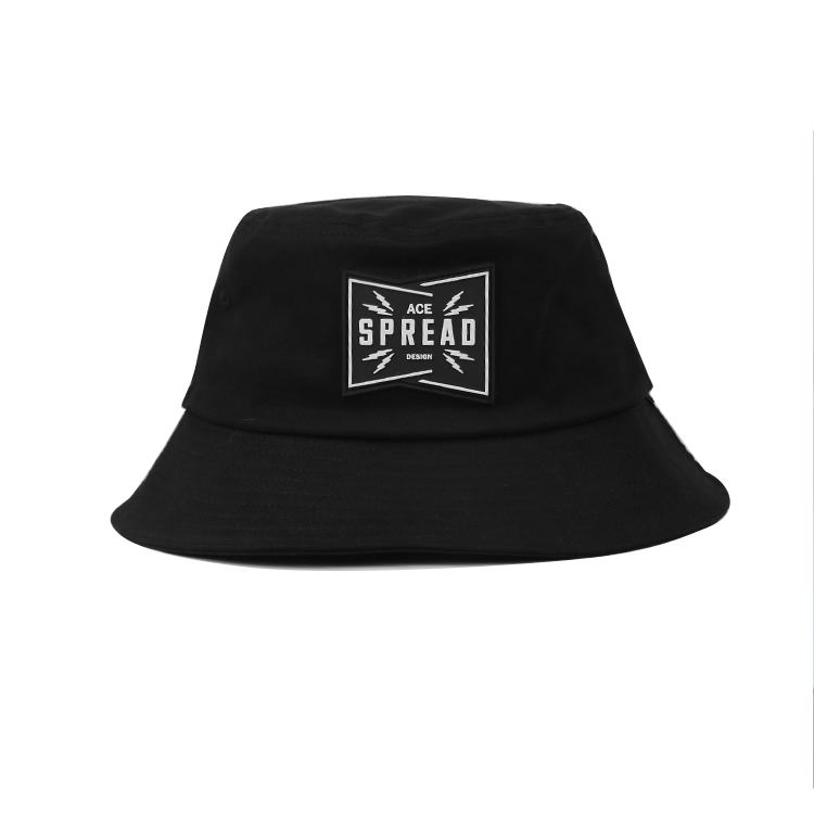 Wholesale Cheap High Quality Adult Fashion Embroidery Fishing Caps Plain Black Bucket Hats With Custom Logo