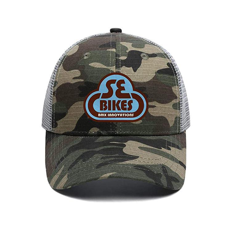 Camouflage Cotton mesh cap Flat Bill Trucker Cap