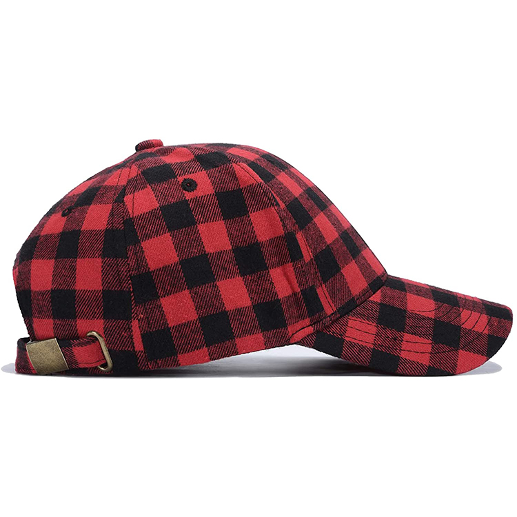 ACE Factory price custom suede baseball cap with embroidery, 6 panel check pattern for wholesale