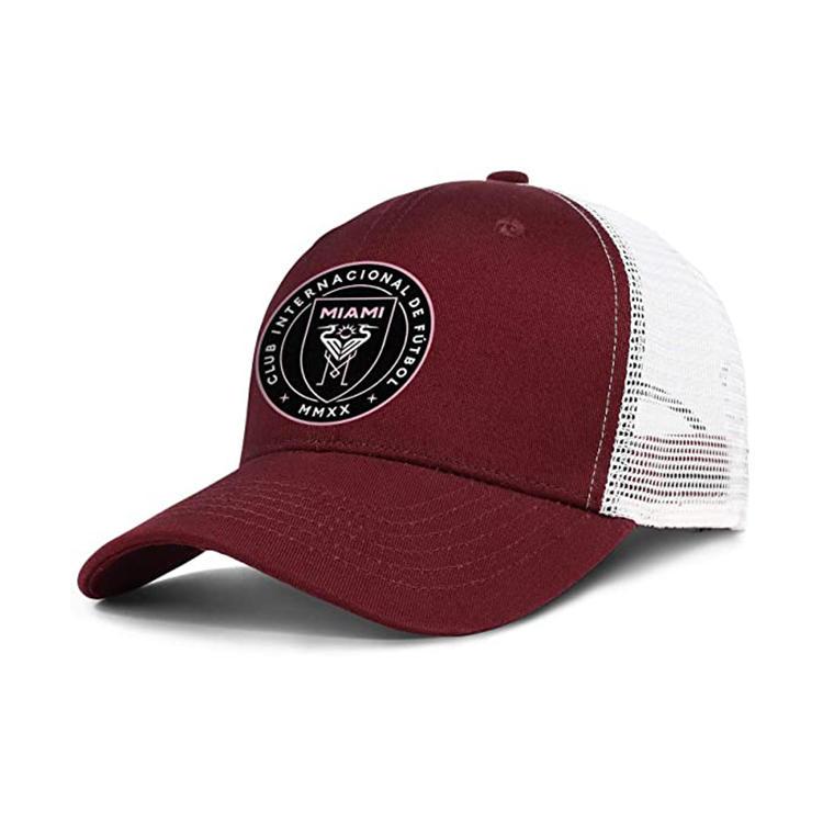 Embroidery Mens Baseball Caps for Men Truck Hats Adjustable Mesh trapback Cap Trucker Hat Vintage (red)