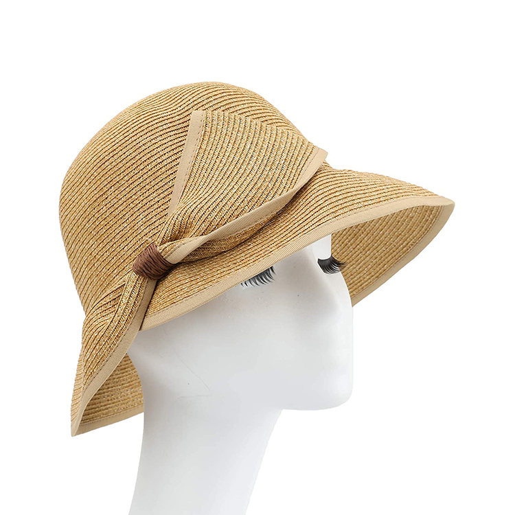 Sun Hats for Women Wide Brim Straw Hat Beach Hat UPF UV Foldable Packable Cap for Travel