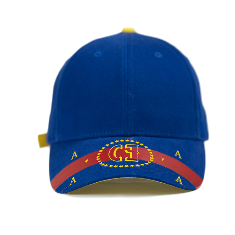 High Density Rubber Printed Baseball Caps For Outdoor Sport Size 56-58cm