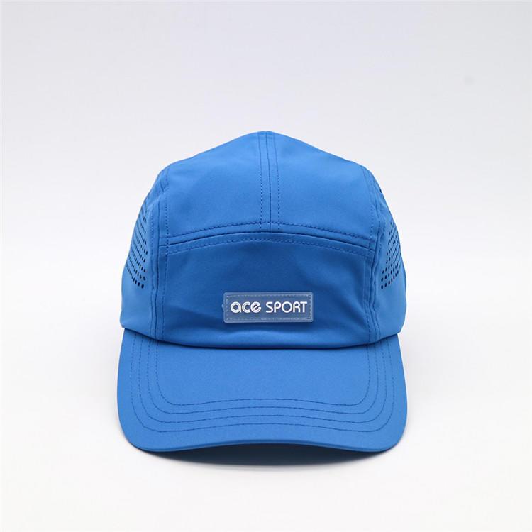 Customised 5 Panels Flat Bill Baseball Camper Hat