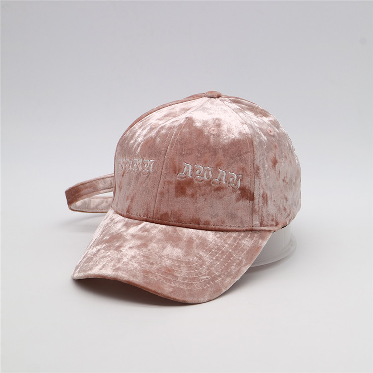 High Quality Soft Flannel  Fabric Customize Baeball Cap