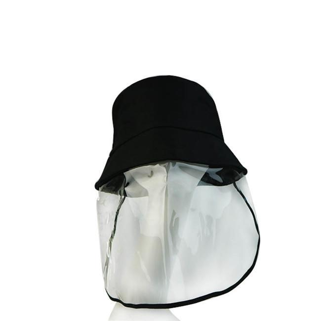 Multifunction Protective Hatswith PVC Face Visor Anti - Spitting Pollution Anti - Saliva Isolate Saliva Cap