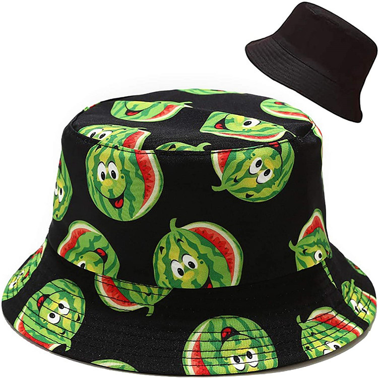 Polyester Custom Double Sided Bucket Hat Design Sublimation Reversible Bucket Hat