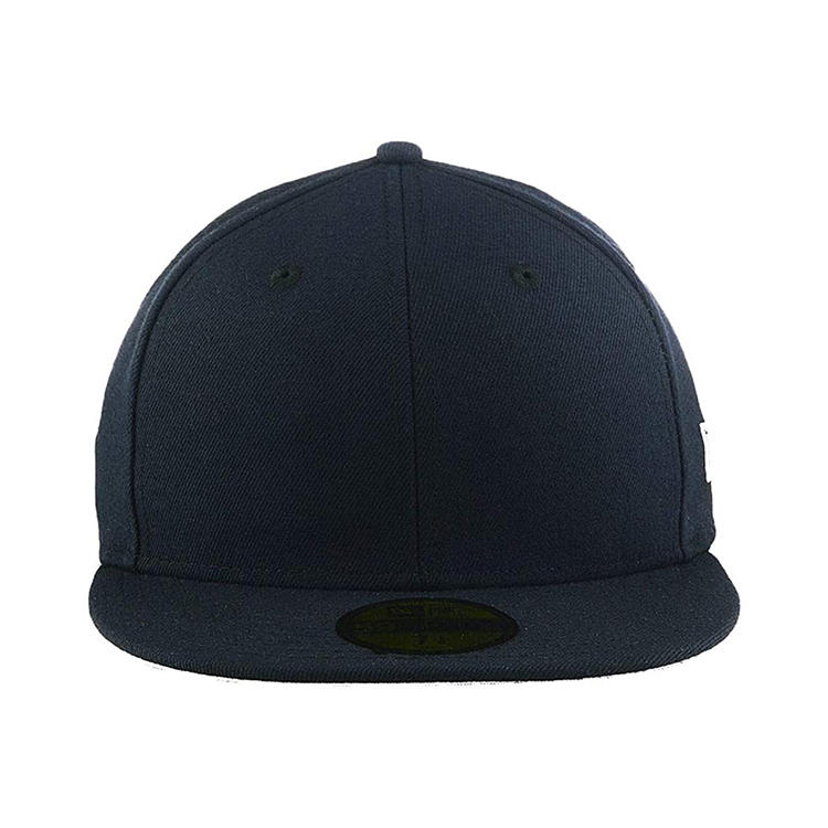 Flat Visor Classic Snapback Hat Blank Adjustable Brim High Top End Trendy Color Style Plain Tone Baseball Cap