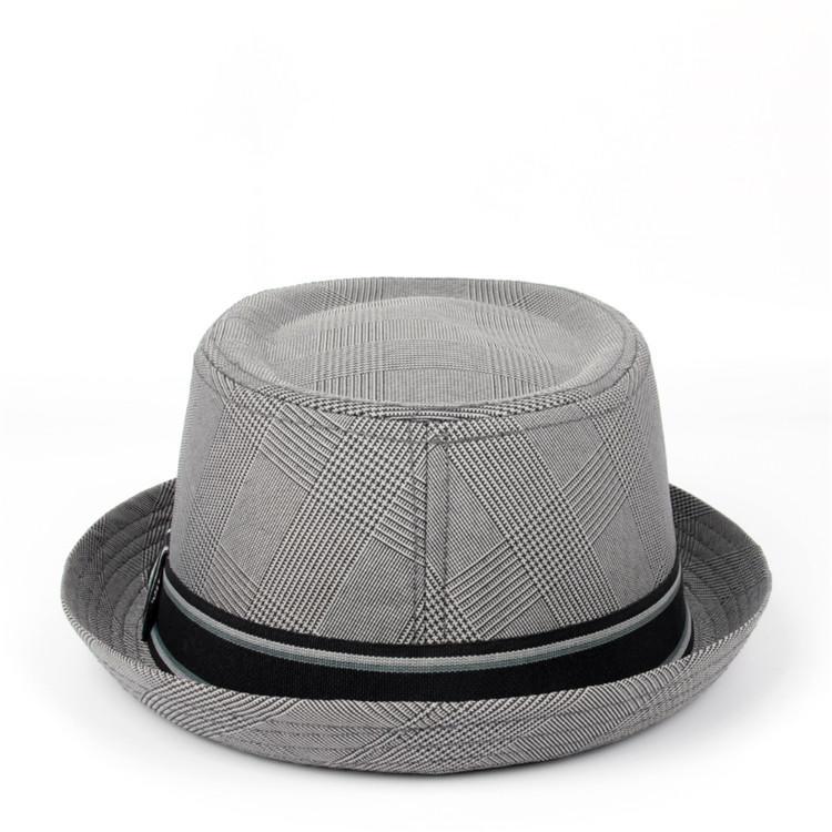 Manhattan Cotton Twill Herringbone Trilby Fedora Hat with Band Casual Jazz Wool Cap