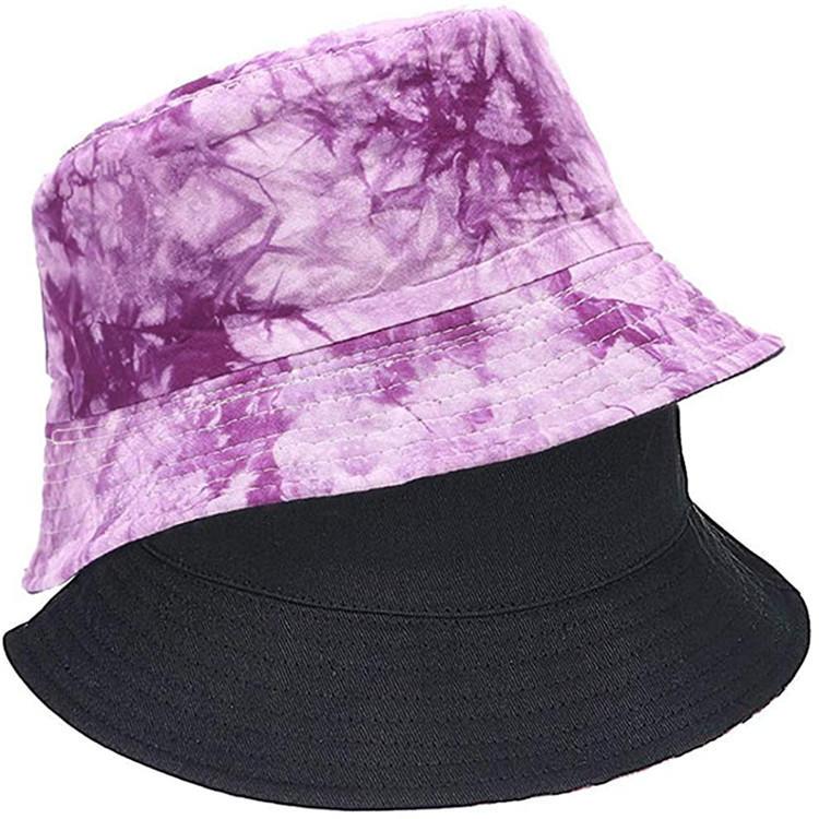 Reversible Bucket Hats for Women Travel Beach Sun Hat Flower Embroidery Outdoor Cap Unisex