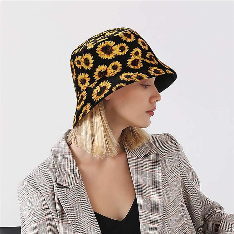 Unisex Reversible Packable Bucket Hat Beach Sun Hat Fisherman Hat for Men Women