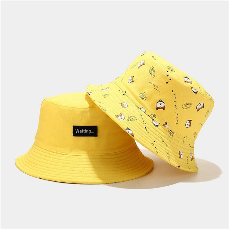 Printing Bucket Hat Funny Pattern Fisherman Cap Packable Reversible Sun Hats for Women, Men