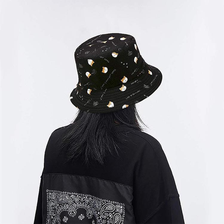 Banana Print Bucket Hat Fruit Pattern Fisherman Hats Summer Reversible Packable Cap