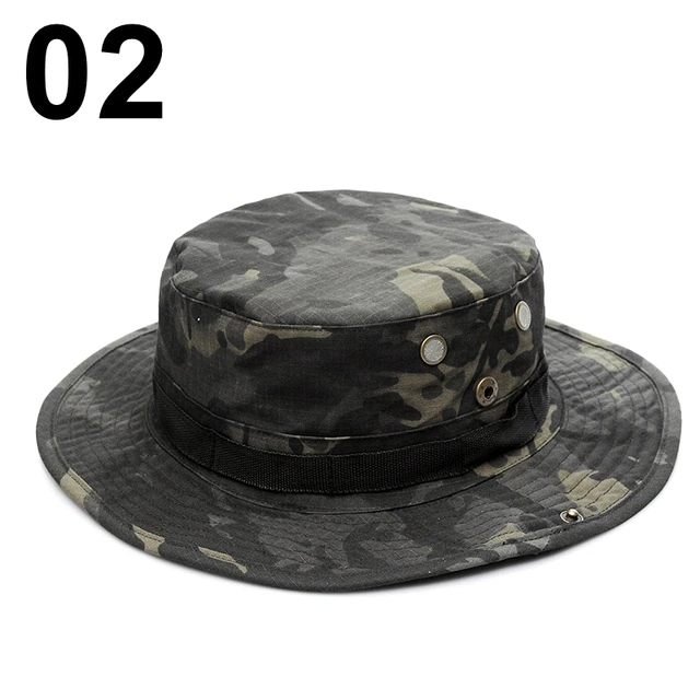 Military Camouflage Bucket Hats Army Hunting Outdoor Hiking Fishing Sun Protector Fisherman Cap