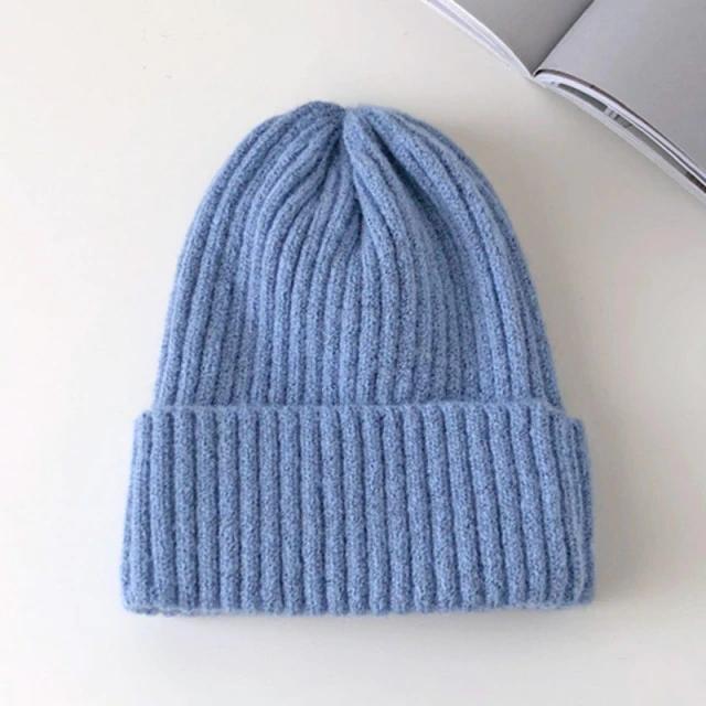 Candy Colors Winter Hat Women Knitted Hat Warm Soft Trendy Hat Kpop Style Wool Beanie Elegant Hat