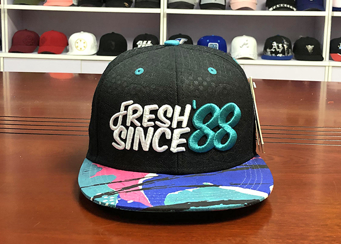 Customize Debossed Snapback Hats And Caps Mens 3D Embroidered With String