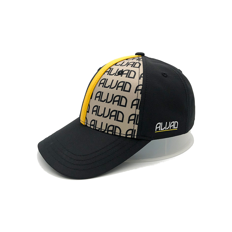 Classic Printed Baseball Cap Polyester With Leather Soft Adjustable Size Sport Hat