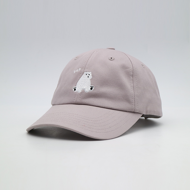 Embroidery Dad Hat Baseball Cap Cute bear pattern for outdoor woman or men running sport hat