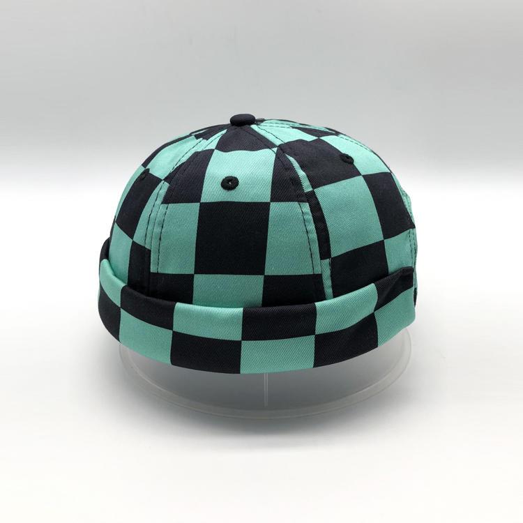 Cotton Brimless Hat Unisex Printed Cap No Visor Cap Beanie Hat