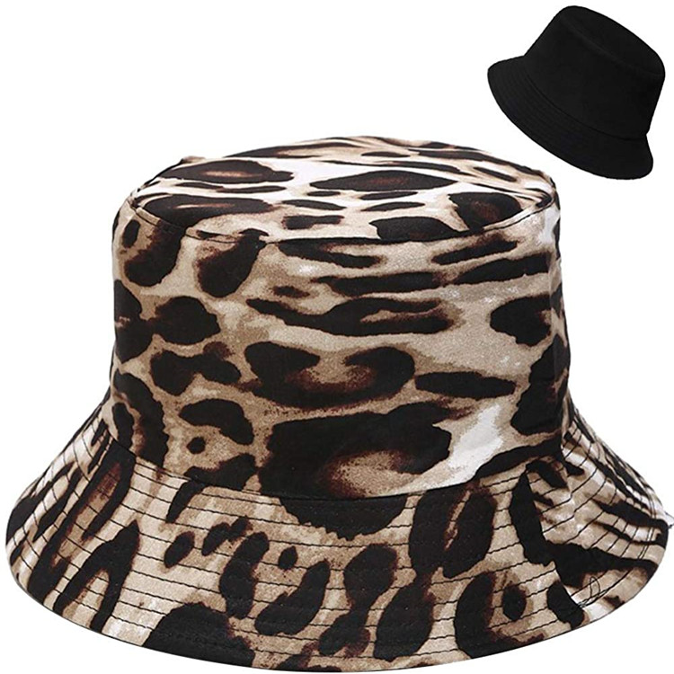 Unisex Print Double-Side Reversible Packable Summer Bucket Hat, Sun Shade UV Protection Fisherman Hat