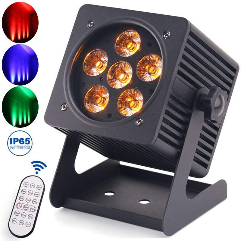 Waterproof Wireless Battery LED Par Light Remote Control Charging Dyeing Light