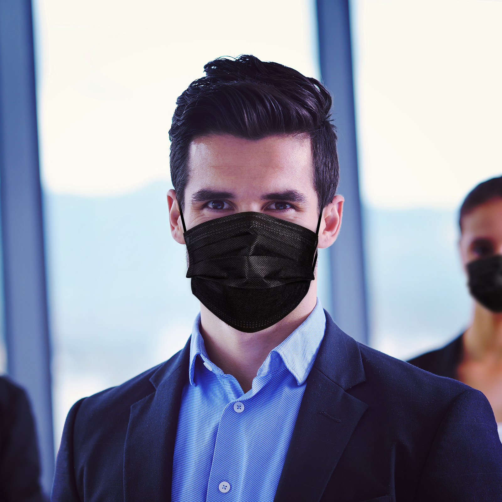 Disposable Protective Mask Black Color