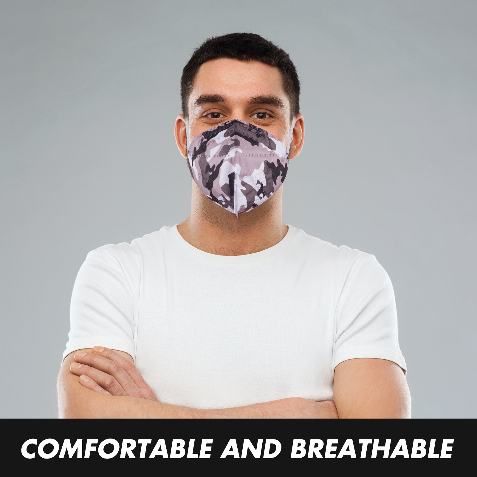 Camouflage FFP2 Respirator Face Mask with CE0598 Certification