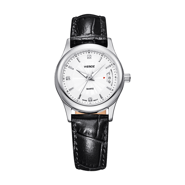 Weide Lady Stainless Steel Strap Luxury Quartz Wristwatch