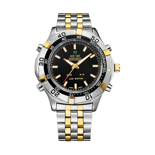 Weide Led Dual Time Zone Mens Watches
