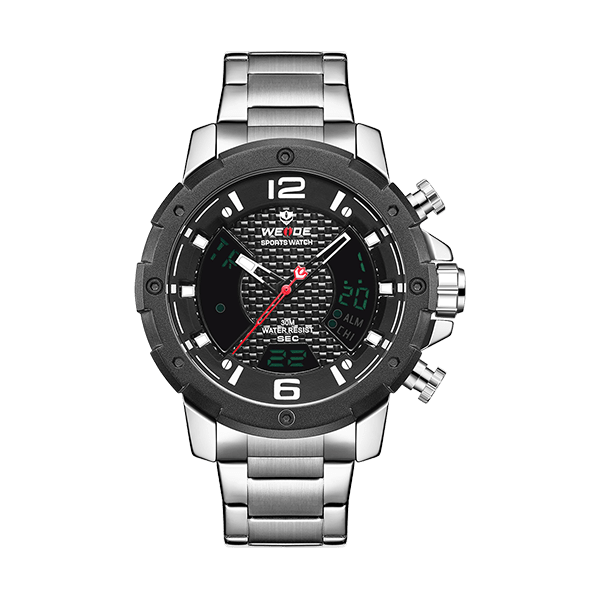 Weide Lcd Dual Time Zone Mens Watches for Sale