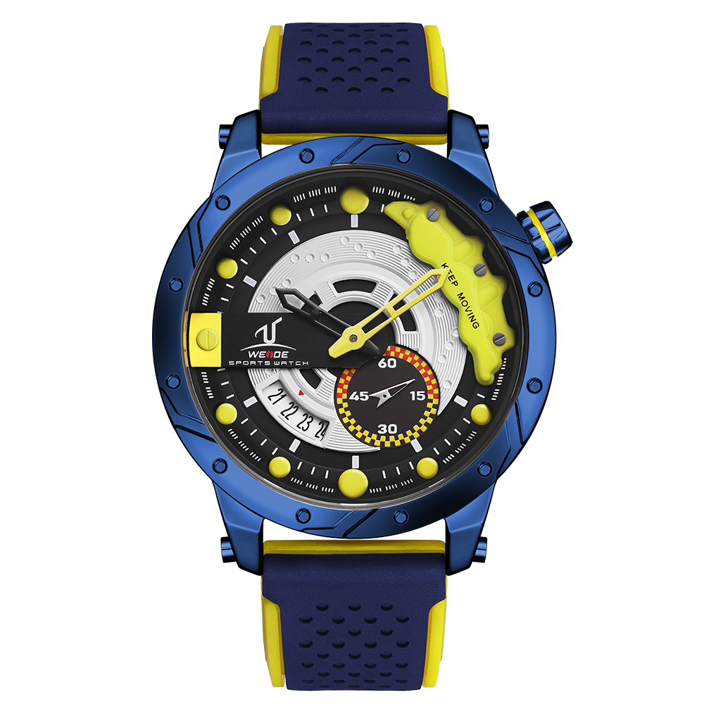 Weide Alloy Silicone 3atm Wholesale Waterproof Mens Watches