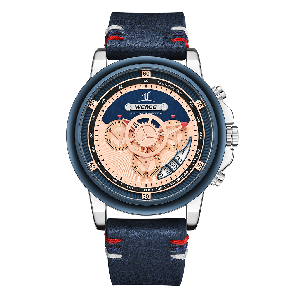 Weide Water Resistant Mens Sports Chronograph Quartz Watch