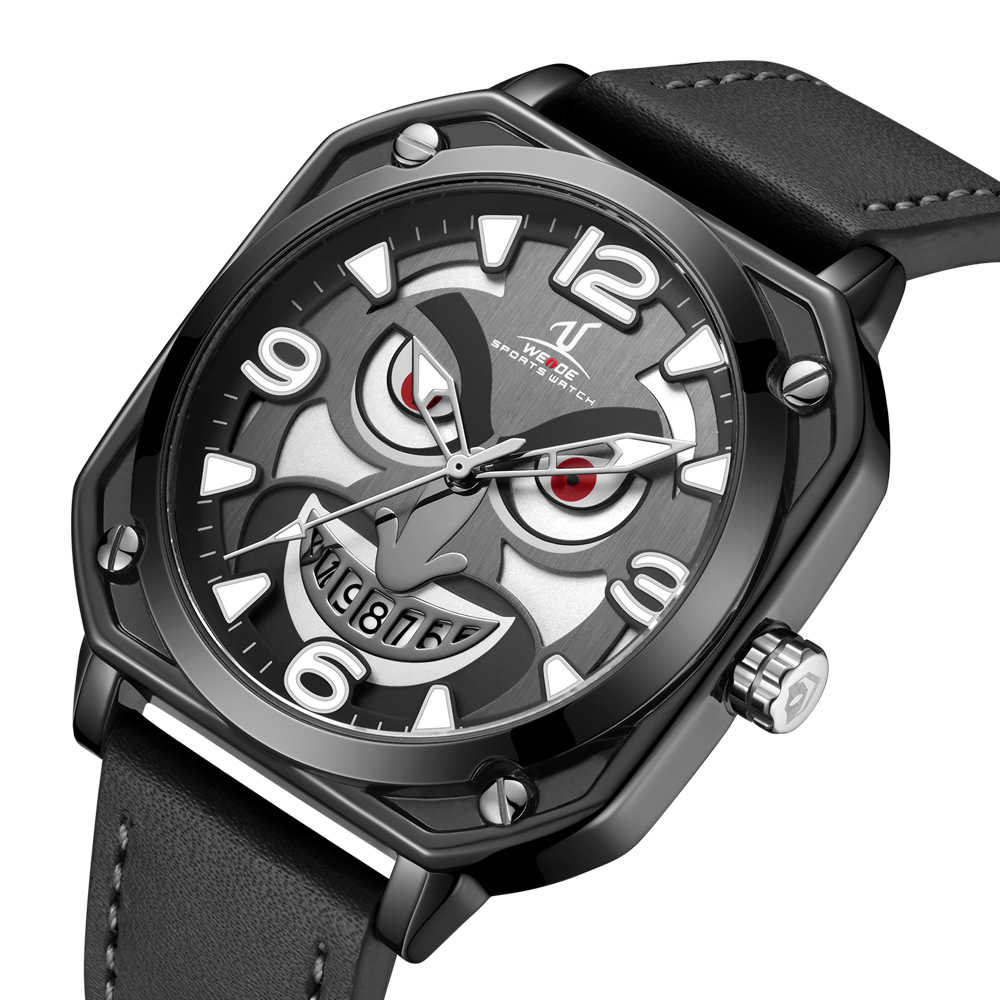 Weide clown square leather mens wholesale cheap watches for sale
